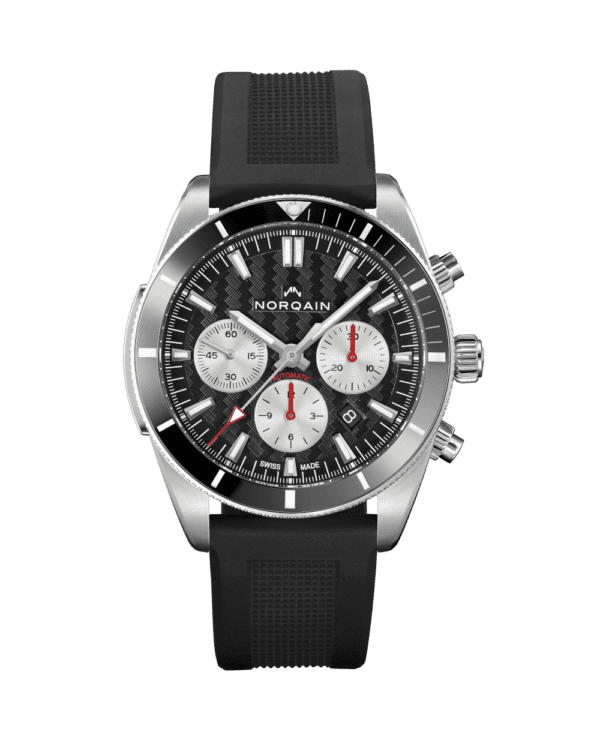NORQAIN N1200 Grey Dial with Black Rubber