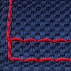 Blue Nordura Red Stitching